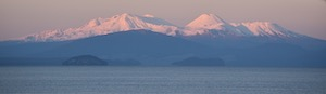Lake Taupo and volcanoes